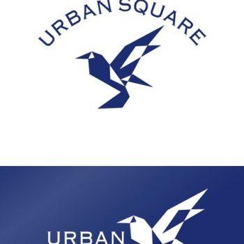 メンズアパレルブランドロゴ「URBAN SQUARE」のロゴ