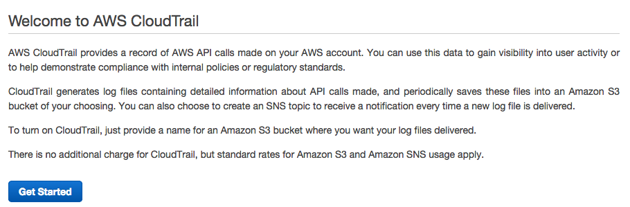 Welcome to AWS CloudTrail