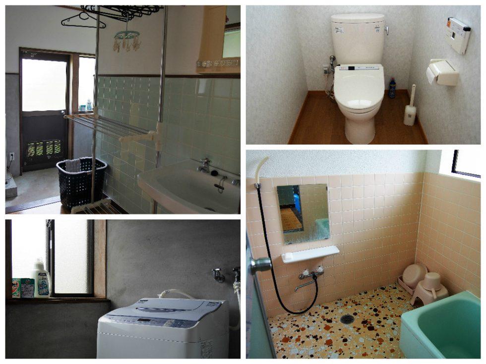 トイレや風呂場、洗面所も清潔で開放的