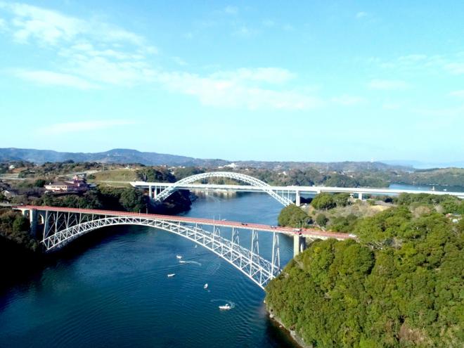 昨年、国有形文化財登録された西海橋