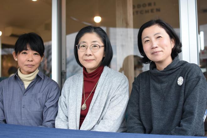 (左から)なべたゆかりさん、井上美奈子さん、フジイミツコさん