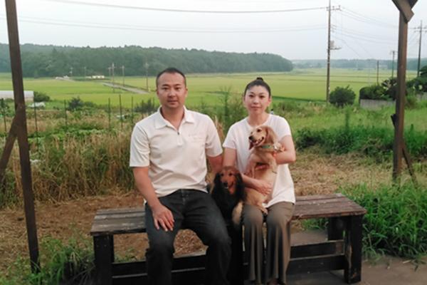 筆者と家庭菜園と犬