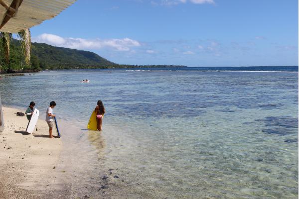 タヒチのビーチ