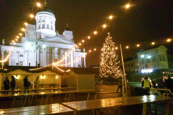 フィンランドの夜