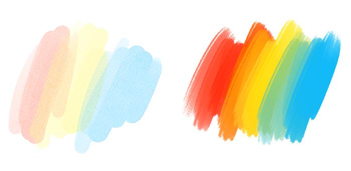 디지털 일러스트로 표현하는 수채와 두껍게 칠하기