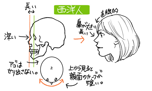 西洋人の鼻の絵