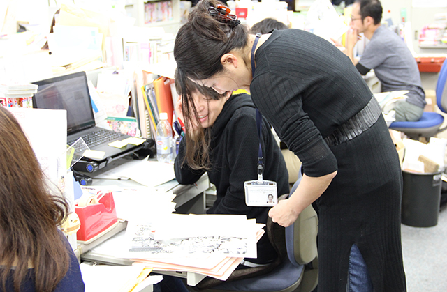 編集スタッフの写真