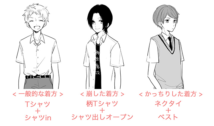 男子高校生の制服の描き方講座 イラストマンガ描き方ナビ