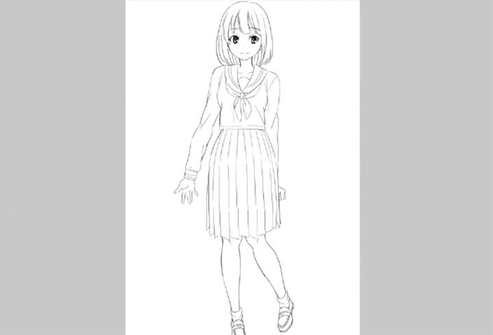 女子高生の制服の描き方講座 イラストマンガ描き方ナビ