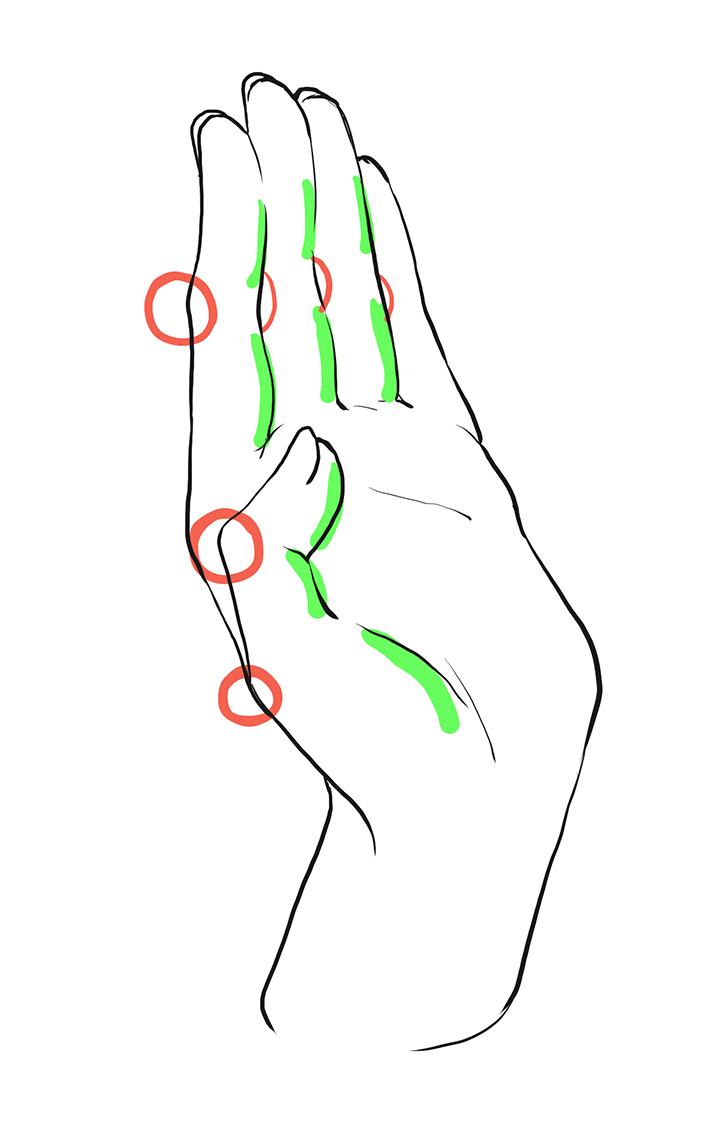 さまざまな手の描き方講座 イラストマンガ描き方ナビ