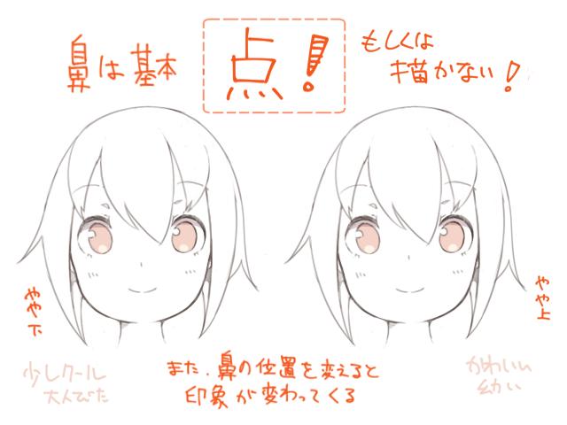 かわいいと思わせる女の子の顔の特徴と描き方 イラストマンガ