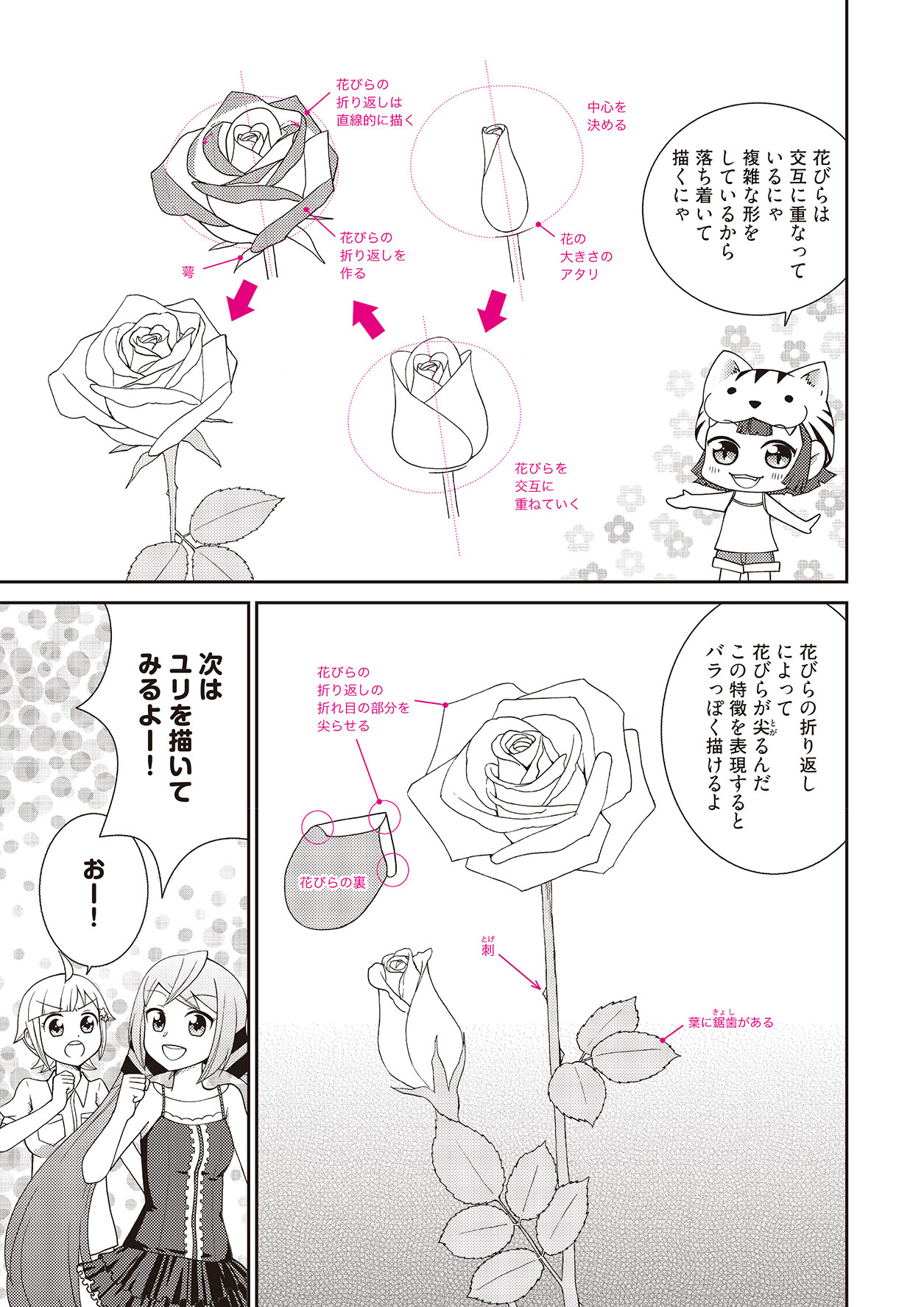 漫画の背景や効果に使える花の描き方 | イラスト・マンガ描き方ナビ