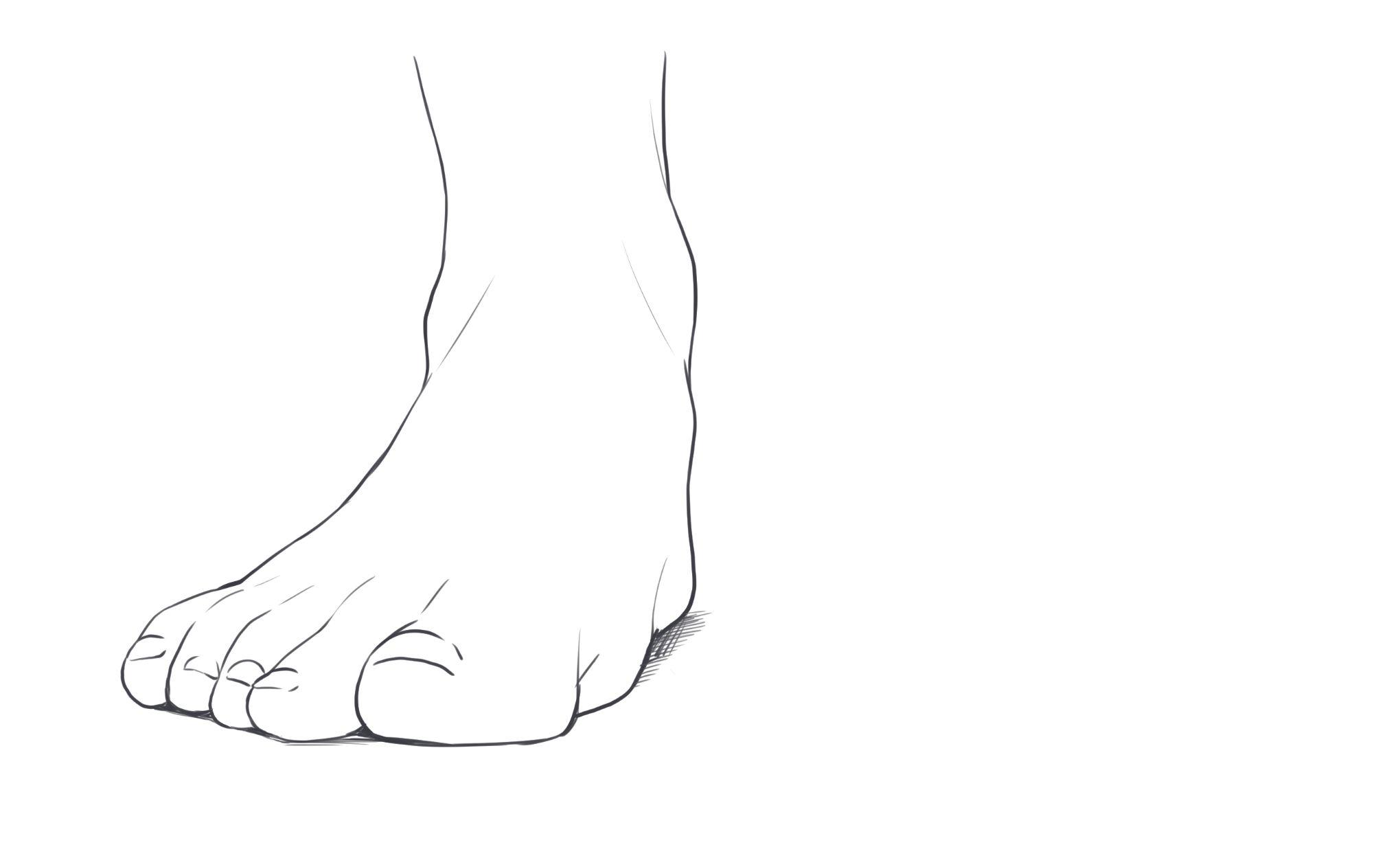 パーツ分けで描ける! 足の描き方講座 | イラスト・マンガ描き方ナビ
