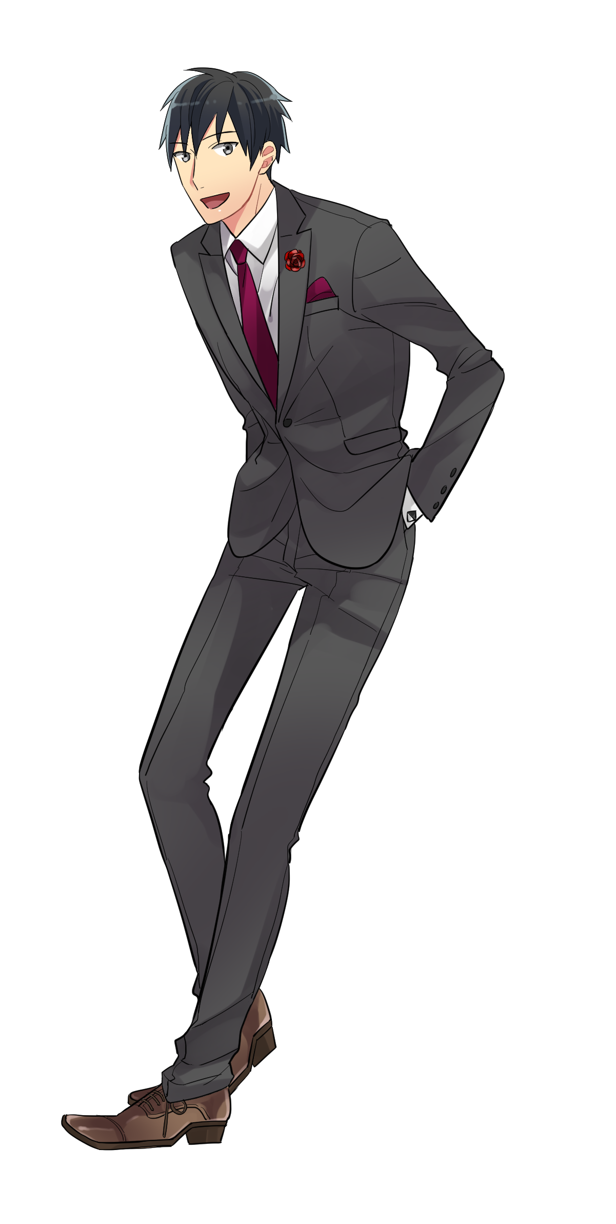 スーツ男子の描き方講座スーツの種類仕組みも解説 イラスト