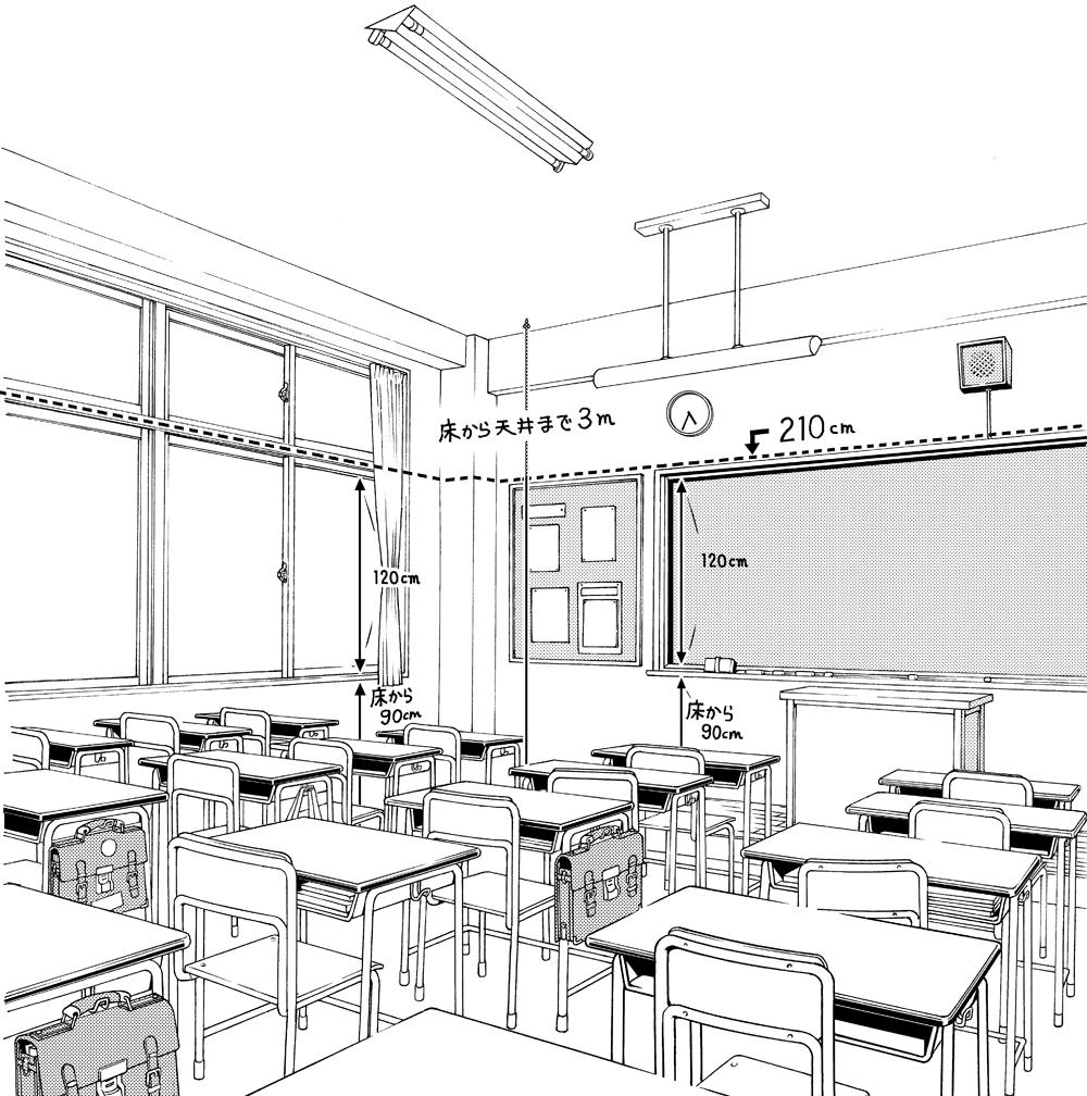 超級!!背景講座!!】maedaxの背景萌え!~学校の教室編~ | イラスト