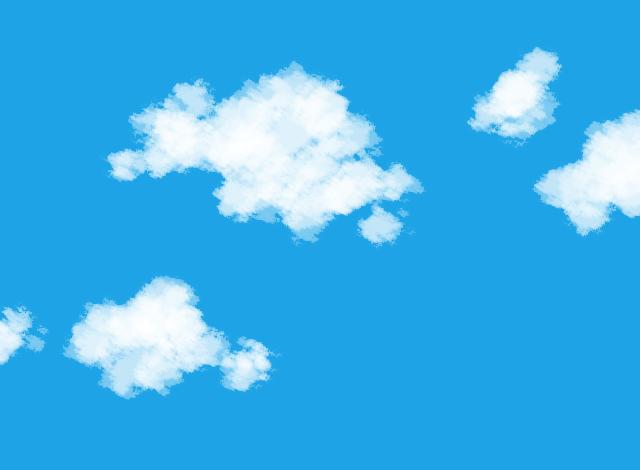 空・雲の描き方】ブラシの種類、...