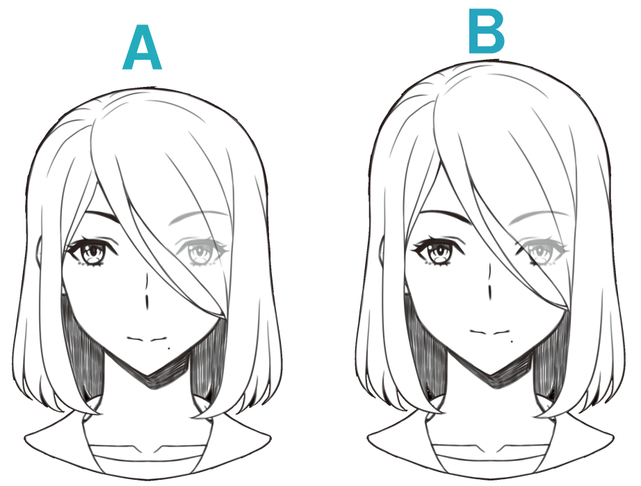 Q.自然な顔のバランスはどっち?