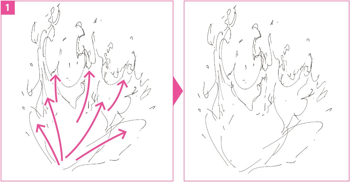 質感エフェクト水しぶきの描き方デジタルイラスト イラスト