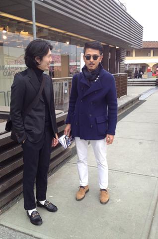 LEON編集部の若手ホープのふたり、市村と井原がついにPittiデビューを果たしまして。 目にするイタオヤ、最新のファッションに足元もココロもふわっふわして、とにも