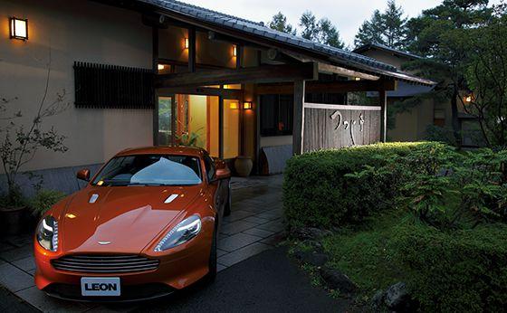 Aston Martin Virage×料亭旅館 つつじ亭