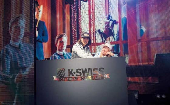「K・SWISS」50周年記念パーティー開催