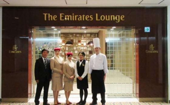 成田空港の「エミレーツ航空」専用ラウンジがオープン1周年