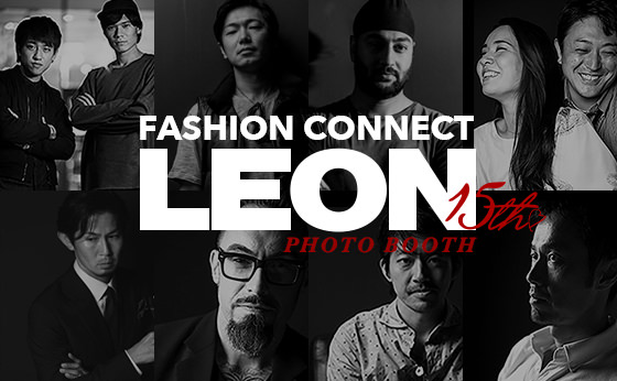 FASHION CONNECT×LEON15th anniversary Photo booth