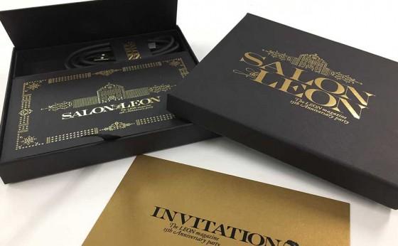 LEON創刊15周年パーティー『サロン ド レオン』への招待状