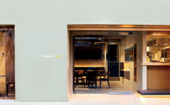 全自動衣類折りたたみ機<br>ランドロイドのカフェオープン