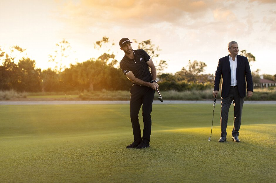 Chipping and Putting contest with Hublot Ambassador Dustin Johnson and Hublot CEO Ricardo Guadalupe
