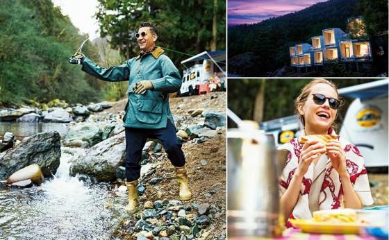 「星のや富士」のグラマラスフィッシング<br>彼女さんは山へヨガにオヤジさんは川へ釣りに……