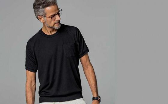 「買えるLEON」オトナのTシャツはツヤとサイズ感が一味違う