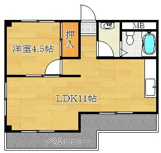1LDK(+S) 47500円