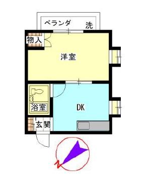 1DK(+S) 40000円