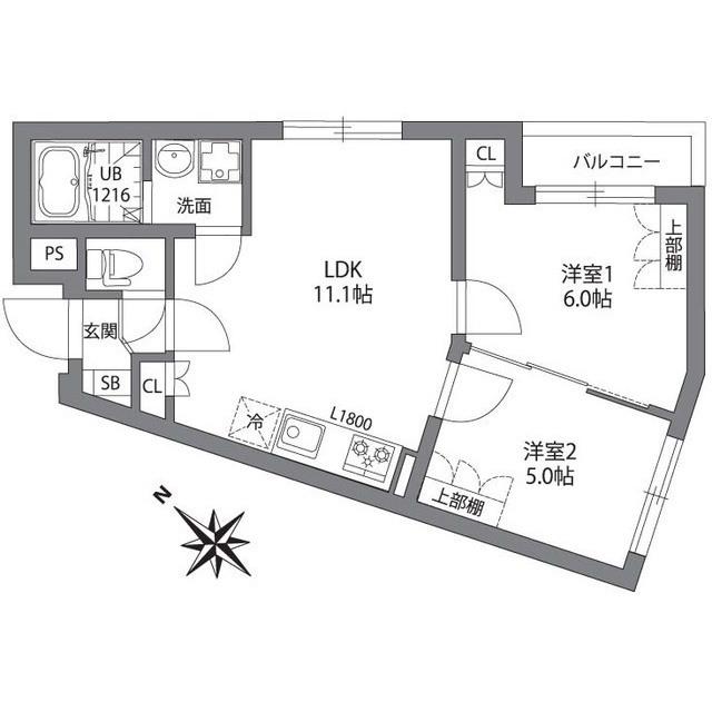 2LDK(+S) 188000円