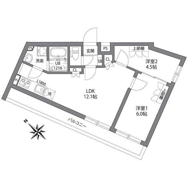 2LDK(+S) 190000円