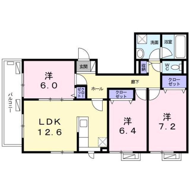 3LDK(+S) 203500円