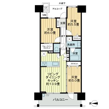 3LDK(+S) 145000円