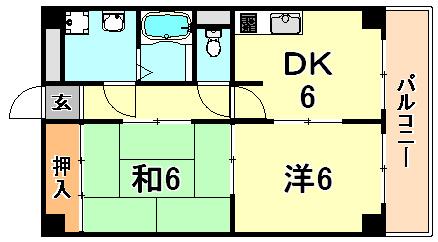 2DK(+S) 78000円