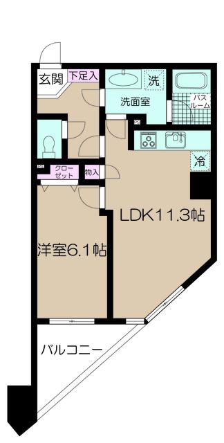 1LDK(+S) 180000円