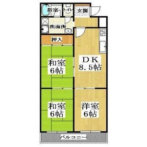 3DK(+S) 80000円