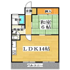 1LDK(+S) 74000円