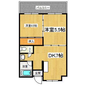 2DK(+S) 68000円
