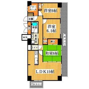 3LDK(+S) 113000円