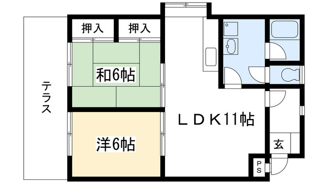 2LDK(+S) 90000円