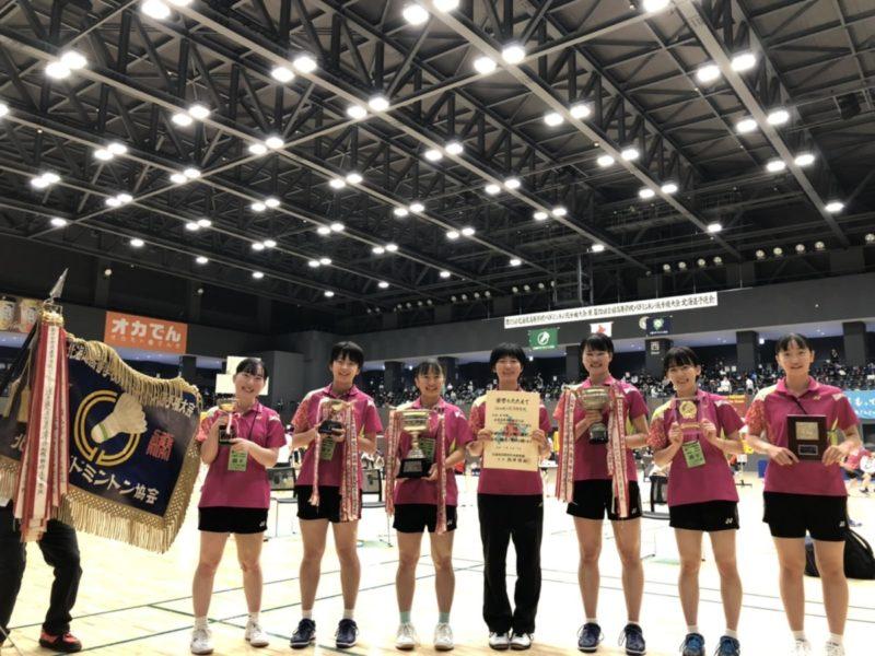 バドミントン 全道優勝7連覇 小原さんが3冠(団体・ダブルス・シングルス)