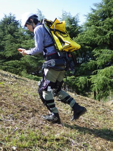 Prototype of power-assist suit for forestry