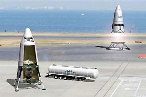 Image of reuse rocket (provided by JAXA)