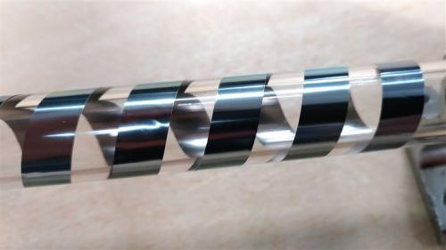 Developed a spin current type thermoelectric conversion sheet softly wrapped around piping (NEC prov