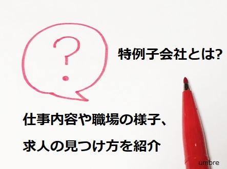 特例子会社とは?「仕事内容や職場の様子、求人の見つけ方を紹介」